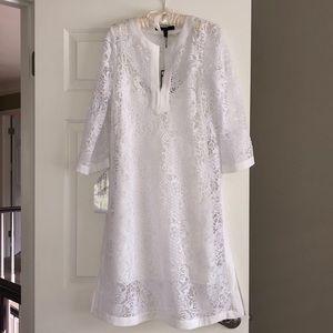 BCBG Maxazria White Lace Dress